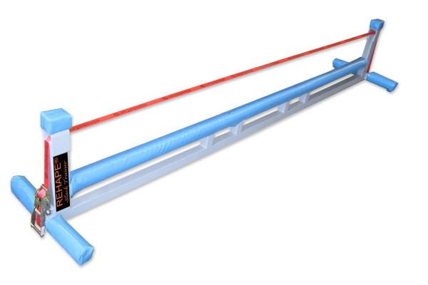 Slackline Rack mit Matten für indoor Slacktraining