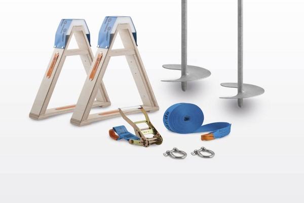 Kinder Komplett-Set zum Slacken mit keinem Baum - Fixpunkt Erdschraubenanker