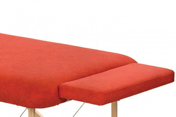 Verlängerung der Massageliege in Rot