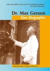 """Coverbild des Buches """"Dr. Max Gerson - Eine Biographie"""""""