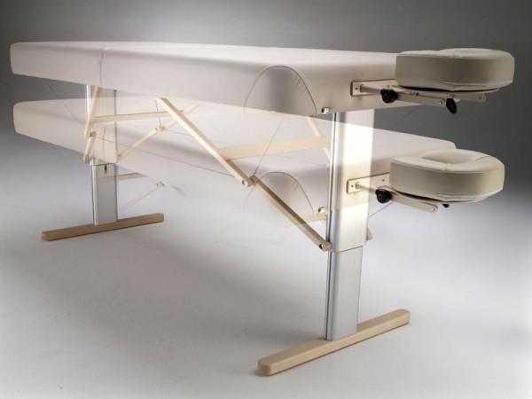 elektrische Höhenverstellung der mobilen Massageliege Linea